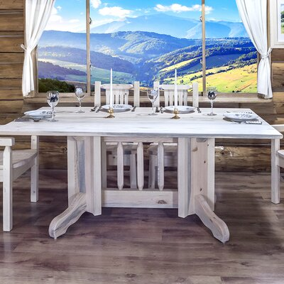 Katlyn Dining Table Double Pedestal Finish: Lacquered