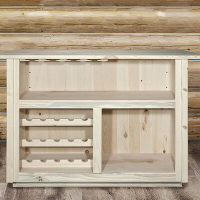 Katlyn Deluxe Bar with Foot Rail Color: Ready to Finish