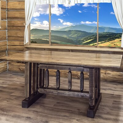 Katlyn Dining Table Based Finish: Stained and Lacquered