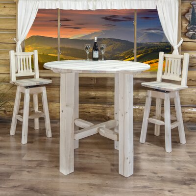 "Katlyn Bistro Table Finish: Ready to Finish, Size: 40"" H x 45"" W x 45"" D"