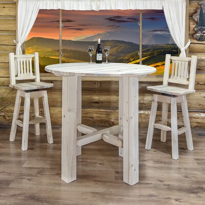 "Katlyn Bistro Table Finish: Lacquered, Size: 40"" H x 45"" W x 45"" D"