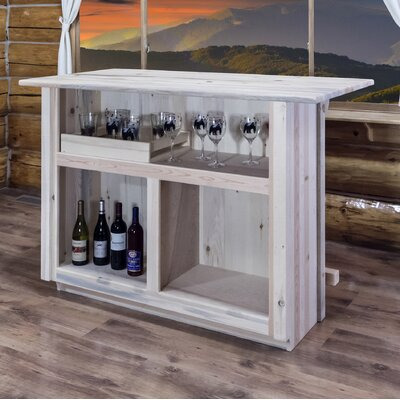 Katlyn Bar with Foot Rail Color: Lacquered