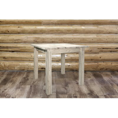 "Katlyn Dining Table Finish: Clear Lacquer Finish, Size: 36"" H x 45"" W x 45"" D"
