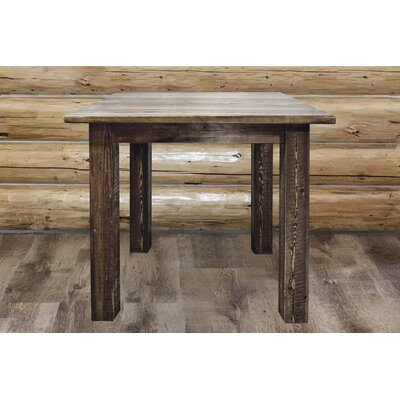"Katlyn Dining Table Finish: Stain & Lacquer Finish, Size: 36"" H x 45"" W x 45"" D"