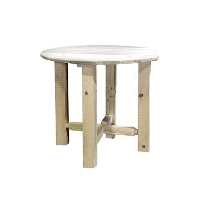 "Katlyn Bistro Table Finish: Clear Lacquer Finish, Size: 36"" H x 45"" W x 45"" D"