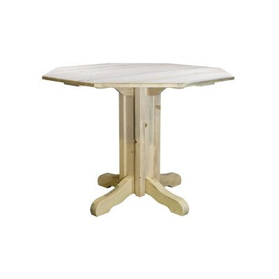 "Katlyn Pub Table Color: Clear Lacquer Finish, Size: 36"" H x 45"" W x 45"" D"