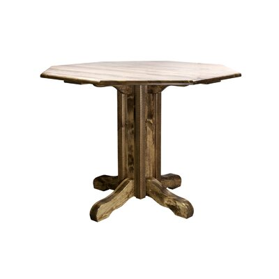 "Katlyn Pub Table Color: Stain and Lacquer Finish, Size: 36"" H x 45"" W x 45"" D"