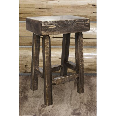 """Katlyn 24"""" Square Bar Stool Finish: Stain and Lacquer Finish"""