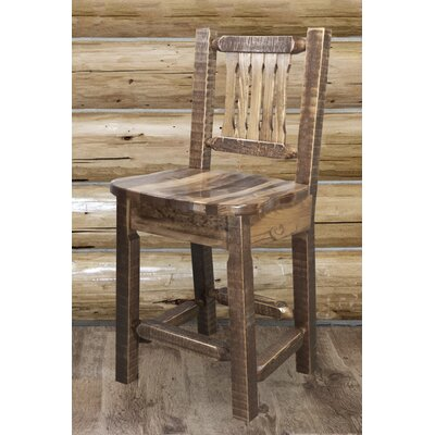 """Katlyn 24"""" Wood Bar Stool Finish: Stain and Lacquer Finish"""