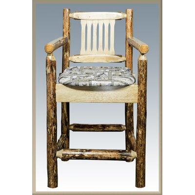 "Tustin 24"" Bar Stool with Cushion Upholstery: Wildlife"