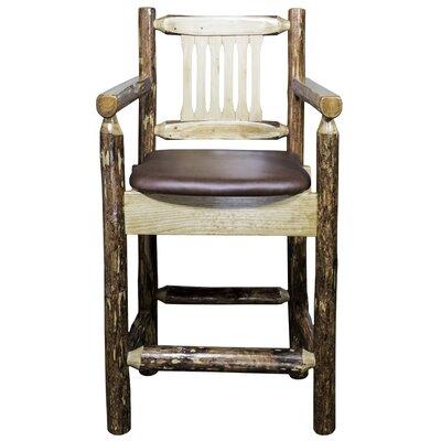 """Tustin 24"""" Bar Stool with Cushion Upholstery: Saddle"""