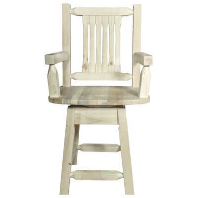 "Katlyn 24"" Rectangle Swivel Bar Stool Finish: Ready to Finish"