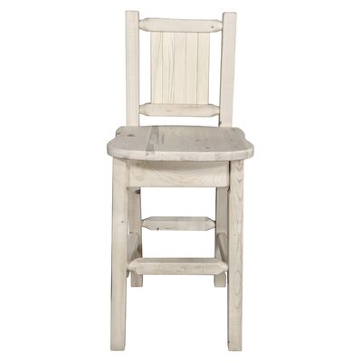"Katlyn Engraved 24"" Bar Stool Color: Natural with Clear Lacquer"