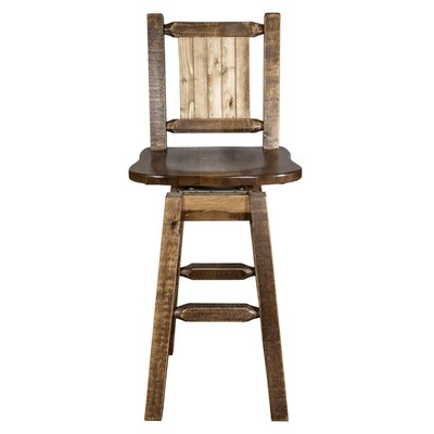 "Katlyn 30"" Swivel Barstool Color: Brown"