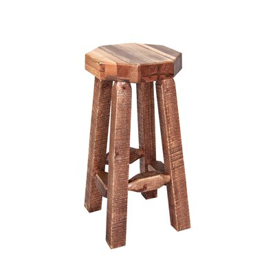 "Katlyn 30"" Octagonal Bar Stool Finish: Stained and Lacquered"