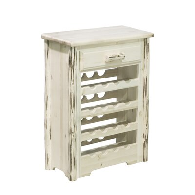 Abordale 16 Bottle Floor Wine Rack Finish: Stained