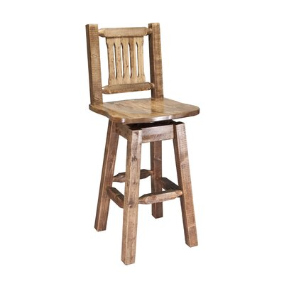 """Katlyn 30"""" Rustic Swivel Bar Stool Finish: Stained and Lacquered"""