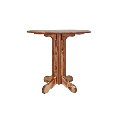 "Katlyn Pub Table Color: Stained and Lacquered, Size: 40"" H x 45"" W x 45"" D"