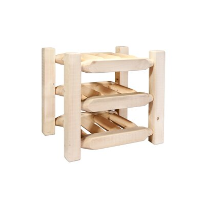 Katlyn Countertop 9 Bottle Tabletop Wine Rack Finish: Lacquered