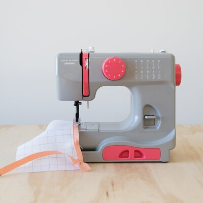 Janome Portable Easy-to-Use 5-Pound Mechanical Sewing Machine Color: Gaceful Gray