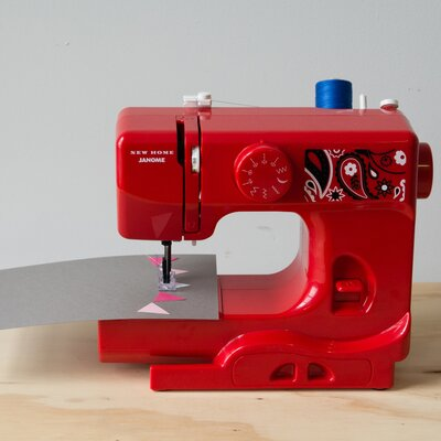 Janome Portable Easy-to-Use 5-Pound Mechanical Sewing Machine Color: Red