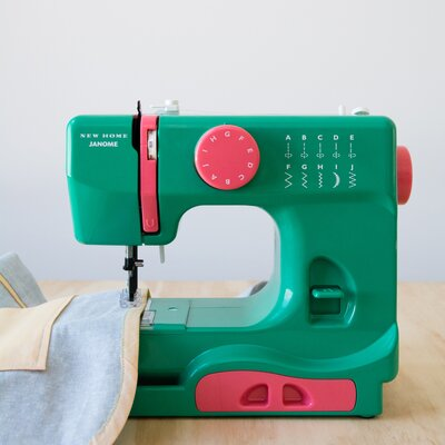 Janome Portable Easy-to-Use 5-Pound Mechanical Sewing Machine Color: Green
