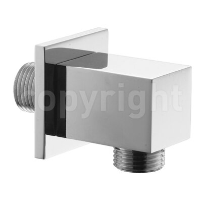 Crosswater Square Wall Outlet in Chrome
