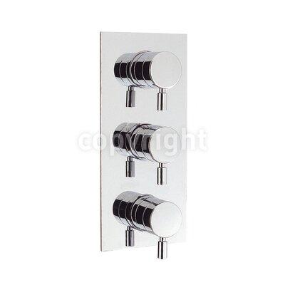 Crosswater Design Triple Concealed Shower Valve with Diverter