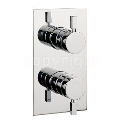 Crosswater Logic Twin Concealed Shower Valve