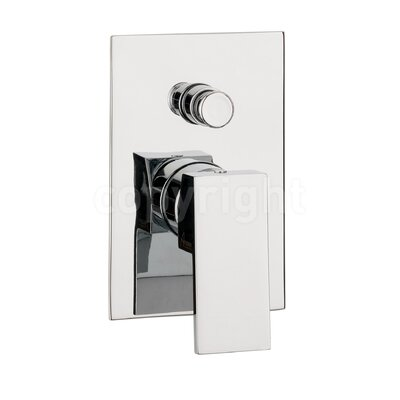 Crosswater Water Square Single Concealed Shower Valve with Diverter