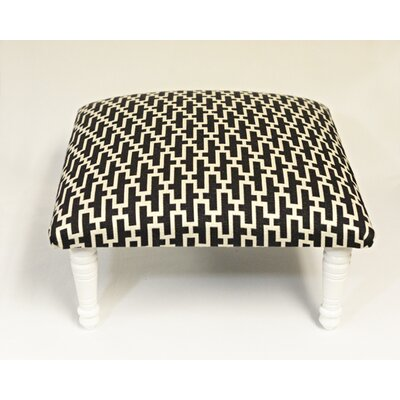 Maxine Zig Zag Accent Stool Color: Black/White