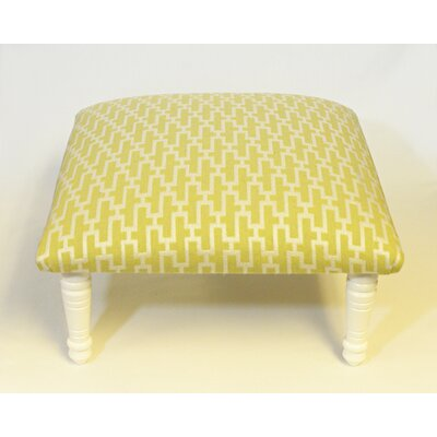 Maxine Zig Zag Accent Stool Color: White/Citrus