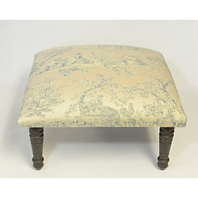 Maxine Toile Pastoral Accent Stool Color: Light Blue