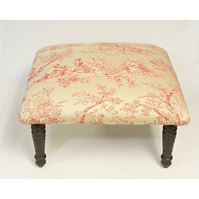 Maxine Toile Pastoral Accent Stool Color: Red