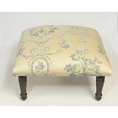 Maxine Toile Flora Bouquet Accent Stool Color: Blue
