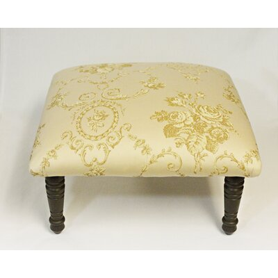 Maxine Toile Flora Bouquet Accent Stool Color: Beige