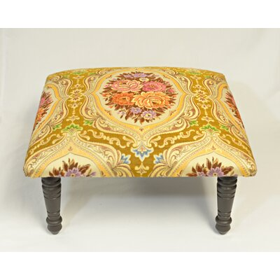 Maxine Carnival Brocade Medallion Accent Stool