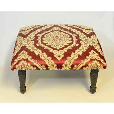 Maxine Brocade Rossete Medallion Accent Stool Color: Red