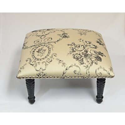 Maxine Toile Flora Bouquet Accent Stool Color: Black