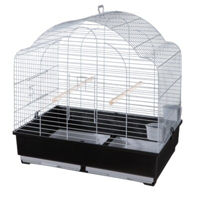Voltrega Grace Domed Top Parrakeet Cage in Grey