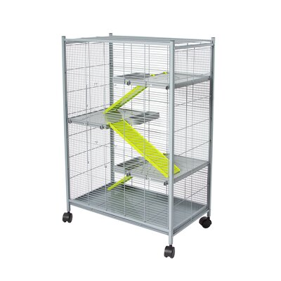 Voltrega Hamster Cage in Grey and Pistacho