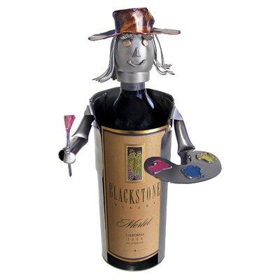 H & K SCULPTURES Artist Caddy 1 Bottle Tabletop Wine Rack