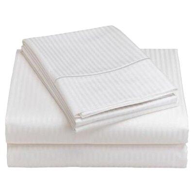 Wildon Home ® 600 Thread Count Woven Damask Stripe Sheet Set