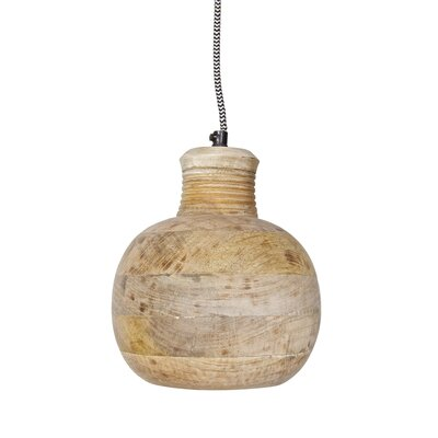 Woood Mini-Pendelleuchte Be Pure Carving Pitcher