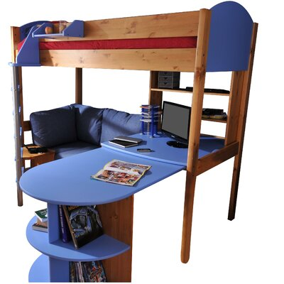 Stompa Stompa European Single High Sleeper Bed with Storage