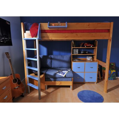 Stompa European Single High Sleeper Bed with Storage