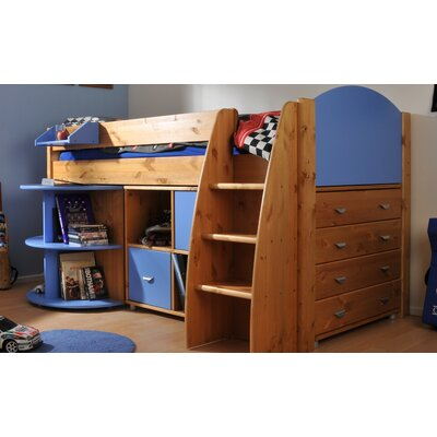 Stompa Rondo European Single Mid Sleeper Bed with Storage