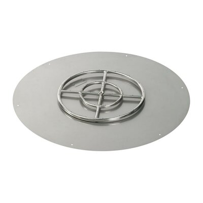 """Round Flat Pan with Natural Gas Spark Ignition Kit (Set of 2) Size: 3"""" H x 30"""" W x 30"""" D"""