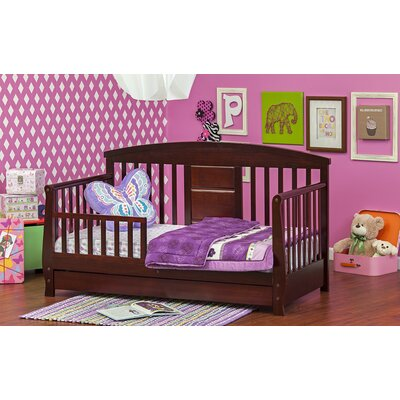 Deluxe Toddler Daybed with Storage Color: Cherry