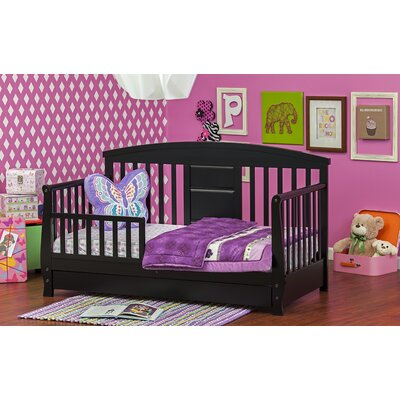 Deluxe Toddler Daybed with Storage Color: Black
